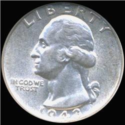 1943S Washington 25c Silver Quarter Coin Graded GEM (COI-6814)