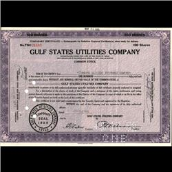 1940s Gulf States Utilities Stock Certificate RARE (COI-3327)