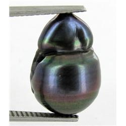 12.63ct South Sea Saltwater Baroque Pearl Iridescent Black/Purple RARE 16mm (JEW-1886)