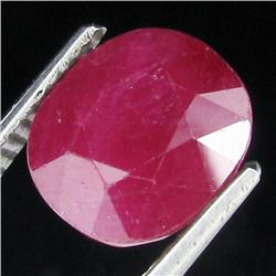4.9ct Oval Blood Red Ruby Madagas. Appraised $7k (GEM-17486)