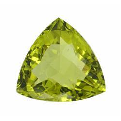 32.05ct AAA Green Gold Quartz Trillion Checker Cut (GEM-14937)