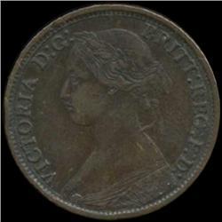 1866 Britain Victoria Farthing High Grade (COI-7056)