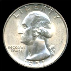 1951S Washington 25c Quarter Coin Graded PCGS MS66 (COI-5319)
