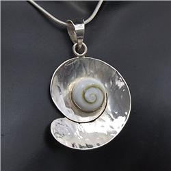 Polished Shell & Sterling Necklace Earrings (JEW-186) (JEW-186)