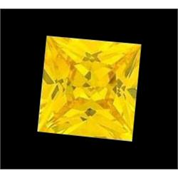 4.08ct Yellow Square Cut Lab Created Diamond (GEM-22358A)