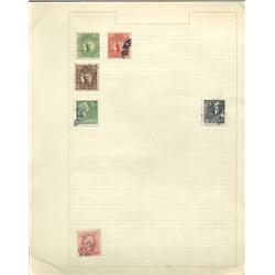 1800s/1940s Sweden Hand Made Stamp Collection Album Page 6 Pieces (STM-0253)