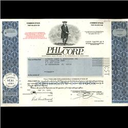 1990s PHL Corp Stock Certificate Scarce (COI-3313)