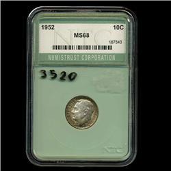 1956 Roosevelt Dime Coin Graded Super GEM (COI-3520)