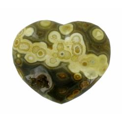 86.42ct Colorful Gem Grade Sea Jasper Heart (GEM-21152)