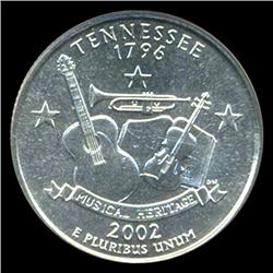 2002P Tennessee Quarter NGC MS68 (COI-5442)