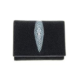 Unisex Stingray Hide Skin Tri-fold Wallet   (ACT-059)