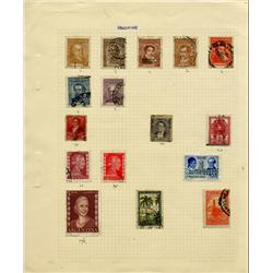 1800s/1950s Argentina Hand Made Stamp Collection Album Page 16 Pieces (STM-0263)