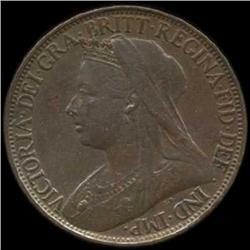 1900 Britain Victoria Farthing Uncirculated (COI-7061)