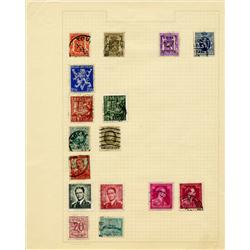 1910s/40s Belgium Hand Made Stamp Collection Album Page 16 Pieces (STM-0287)