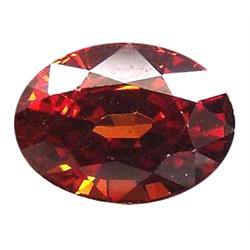 1.27ct Natural Blazing Top Orange Spessartite Garnet  VVS Appraisal Estimate $762 (GEM-18818)