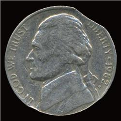 1982P Jefferson Nickel Clip Error Hi Grade (COI-5118)