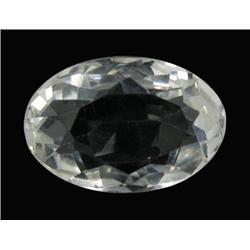 28.04ct Ultimate Flawless Quartz Crystal Gem Oval Cut (GEM-21591)
