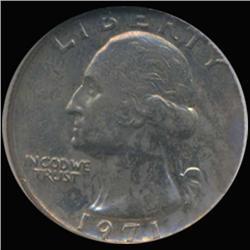1971 Washington 25c Quarter Coin Graded GEM (COI-6864)