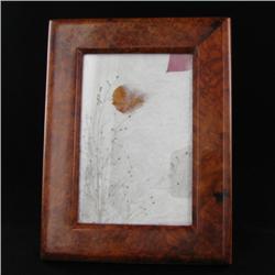 Handcrafted Afzelia Burl Frame (DEC-344)