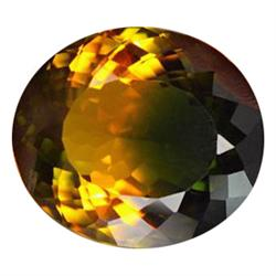 48.52ct Exceptional Green Yellow Oval Cut Citrine (GEM-23161)