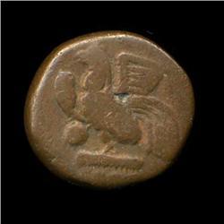1800s Indo-French Bronze Coin Hi Grade (COI-5779)