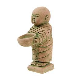 Hand Formed Sandstone Monk w/ Bowl (CLB-166)