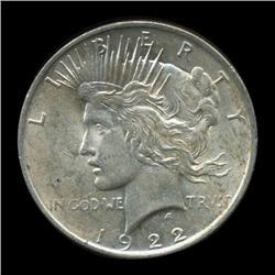 1922 Peace Dollar Choice Unc (COI-5653)