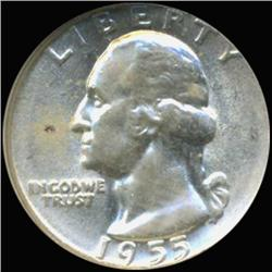 1954 Washington 25c Silver Quarter Coin Graded GEM (COI-6830)