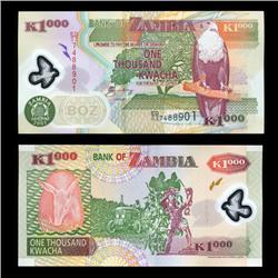2005 Zambia 1000 Kwacha Crisp Uncirculated Polymer Note (COI-4567)
