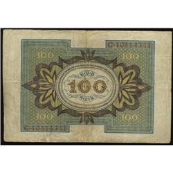 1920 Germany 100 Mark Hi Grade (COI-1338)