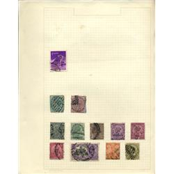 1800s/1920s India Hand Made Stamp Collection Album Page 12 Pieces (STM-0241)