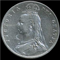 1889 Britain Victoria Half Crown Hi Grade (COI-7027)