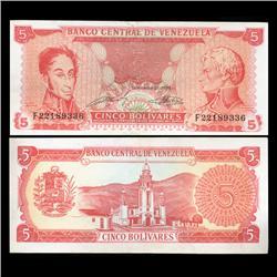 1981 Venezuela 5 Bolivares Hi Grade Note (CUR-05812)