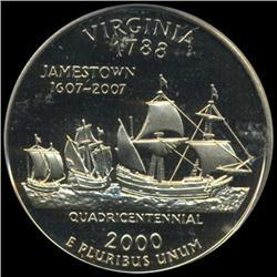 2000S US VA Quarter Graded PR70 DCAM (COI-6358)