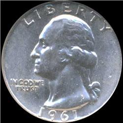 1961D Washington 25c Silver Quarter Coin Graded GEM (COI-6844)