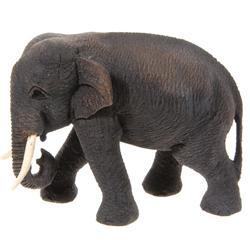 Hand Carved Teak Walking Elephant (CLB-118)