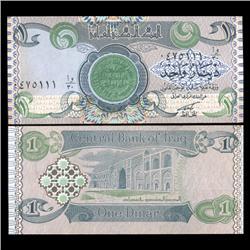 1992 IRAQ 1 Dinar Crisp Unc Note (CUR-05627)