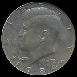 1984 Kennedy Half 50c Coin Graded GEM (COI-6917)