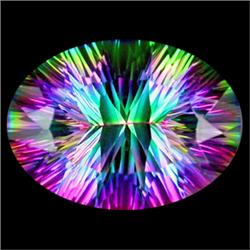 20ct Top Grade Blazing Color Oval Mystic Topaz (GMR-0990)