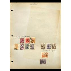 1925 Austria Hand Made Stamp Collection Album Page  12 Pieces (STM-0136)