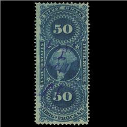 1862 US 50c Original Process Revenue Stamp NICE (STM-0560)