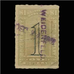 1900 US $1 Documentary Revenue Stamp NICE (STM-0538)