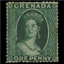 1873 Grenada 1p Postage Stamp PREMIUM (STM-0596)