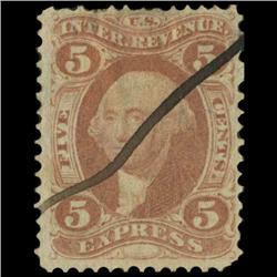 1862 US 5c Express Revenue Stamp NICE (STM-0552)