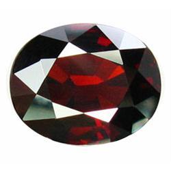 3.80ct Oval Facet Natural Deep Red Spessartine Garnet (GEM-22826)
