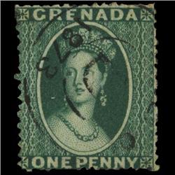 1873 Grenada 1p Postage Stamp PREMIUM (STM-0595)