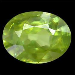 1.30ct Natural Oval Pakistan Green Sphene (GEM-24863)