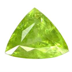 1.35ct Sparkling Natural Trillion Pakistan Green Sphene (GEM-25057)