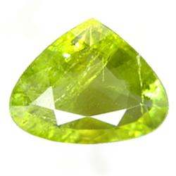 2.75ct Natural Nice Pakistan Pear Green Sphene (GEM-24846)