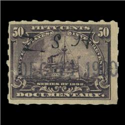 1898 US 50c Documentary Revenue Stamp NICE (STM-0535)